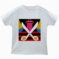 Scissors Tongue Kids White T-Shirts