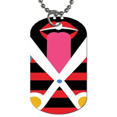 Scissors Tongue Dog Tag (Two Sides)