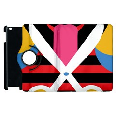Scissors Tongue Apple iPad 3/4 Flip 360 Case