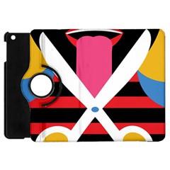 Scissors Tongue Apple iPad Mini Flip 360 Case