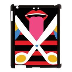 Scissors Tongue Apple Ipad 3/4 Case (black)