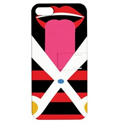 Scissors Tongue Apple iPhone 5 Hardshell Case with Stand