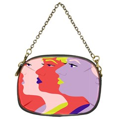 Three Beautiful Face Chain Purses (One Side)