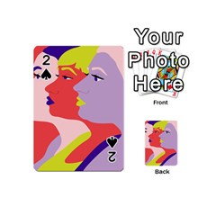 Three Beautiful Face Playing Cards 54 (Mini)