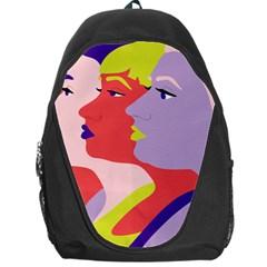 Three Beautiful Face Backpack Bag