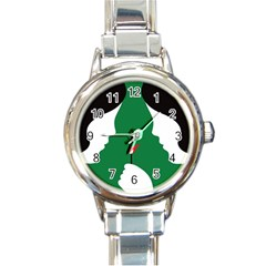Two Face Round Italian Charm Watch