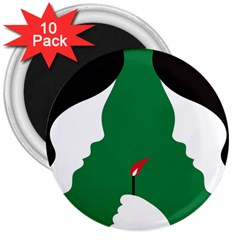 Two Face 3  Magnets (10 pack)