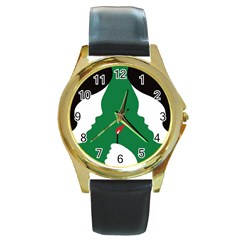 Two Face Round Gold Metal Watch