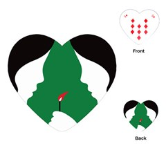 Two Face Playing Cards (Heart)
