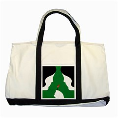Two Face Two Tone Tote Bag