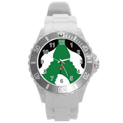 Two Face Round Plastic Sport Watch (L)