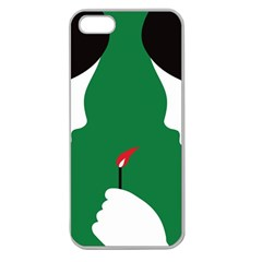 Two Face Apple Seamless iPhone 5 Case (Clear)