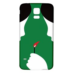 Two Face Samsung Galaxy S5 Back Case (White)