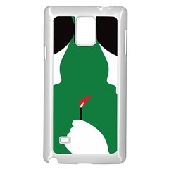 Two Face Samsung Galaxy Note 4 Case (White)