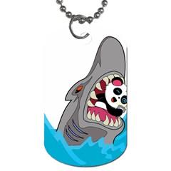 Panda Sharke Blue Sea Dog Tag (One Side)