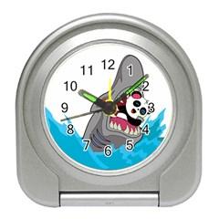 Panda Sharke Blue Sea Travel Alarm Clocks