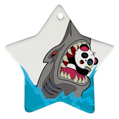 Panda Sharke Blue Sea Star Ornament (Two Sides)