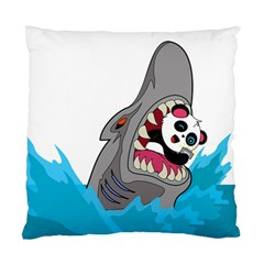 Panda Sharke Blue Sea Standard Cushion Case (One Side)