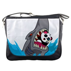 Panda Sharke Blue Sea Messenger Bags