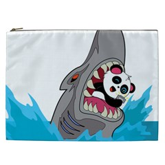 Panda Sharke Blue Sea Cosmetic Bag (XXL)