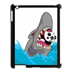 Panda Sharke Blue Sea Apple iPad 3/4 Case (Black)