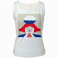 Woman Women s White Tank Top