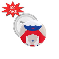 Woman 1.75  Buttons (100 pack)