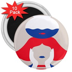 Woman 3  Magnets (10 pack)