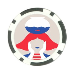 Woman Poker Chip Card Guards (10 pack)
