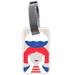 Woman Luggage Tags (Two Sides)