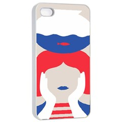 Woman Apple iPhone 4/4s Seamless Case (White)
