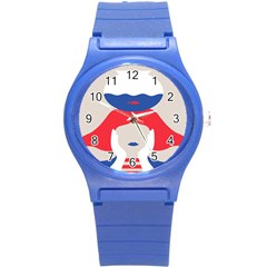 Woman Round Plastic Sport Watch (S)