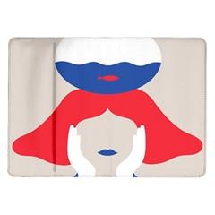 Woman Samsung Galaxy Tab 10.1  P7500 Flip Case