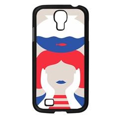 Woman Samsung Galaxy S4 I9500/ I9505 Case (Black)
