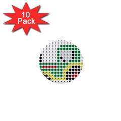Tractor Perler Bead 1  Mini Buttons (10 pack)