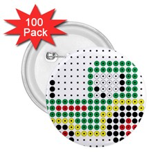 Tractor Perler Bead 2.25  Buttons (100 pack)