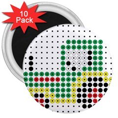 Tractor Perler Bead 3  Magnets (10 pack)
