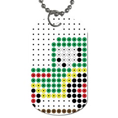 Tractor Perler Bead Dog Tag (Two Sides)