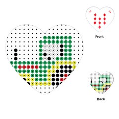 Tractor Perler Bead Playing Cards (Heart)