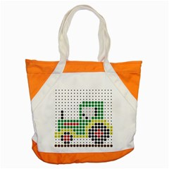 Tractor Perler Bead Accent Tote Bag