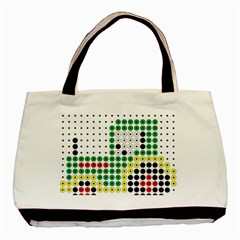Tractor Perler Bead Basic Tote Bag (Two Sides)