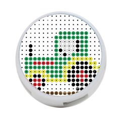 Tractor Perler Bead 4-Port USB Hub (One Side)