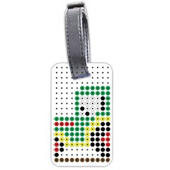 Tractor Perler Bead Luggage Tags (One Side)
