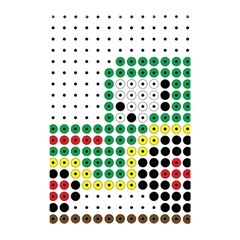Tractor Perler Bead Shower Curtain 48  x 72  (Small)