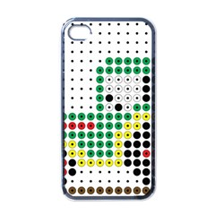 Tractor Perler Bead Apple iPhone 4 Case (Black)
