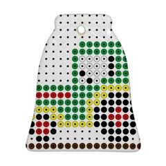 Tractor Perler Bead Bell Ornament (2 Sides)