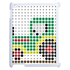 Tractor Perler Bead Apple iPad 2 Case (White)