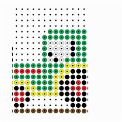 Tractor Perler Bead Small Garden Flag (Two Sides)