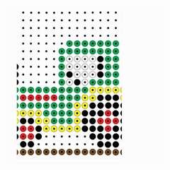 Tractor Perler Bead Large Garden Flag (Two Sides)
