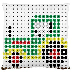 Tractor Perler Bead Large Cushion Case (Two Sides)